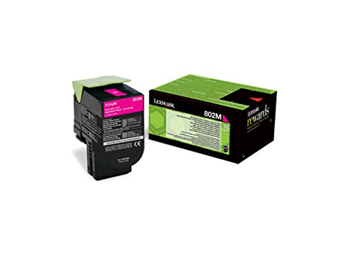 Lexmark 80C20M0 Return Program Toner Cartridge, magenta