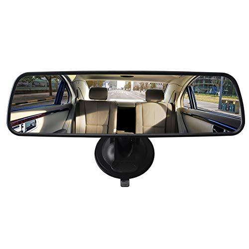 Espejo retrovisor interior del coche Kelay, espejo auxiliar de ventosa fuerte universal para espejos de campo grandes de vagón de autocar (24.8 * 7, blanco)