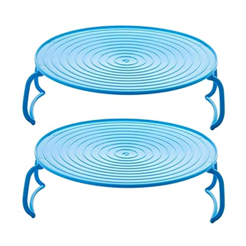 Yardwe 2 Stück Plastikdampfer Rack Dampfkorb Stand Gemüsedampfer Tablett Einsatz für Mikrowelle Instant Topf Gekochte Eier Blau