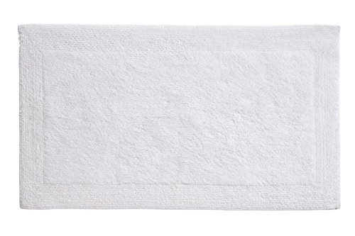 Grund Puro Series 100% Organic Cotton Reversible Bath Rug, 17-inch by 24-inch, White