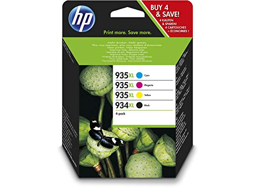 Lote de 4 Cartuchos de tinta Original XL para HP Officejet Pro6230 Pro 6230 ePrinter (XL negro/cian/amarillo/magenta)