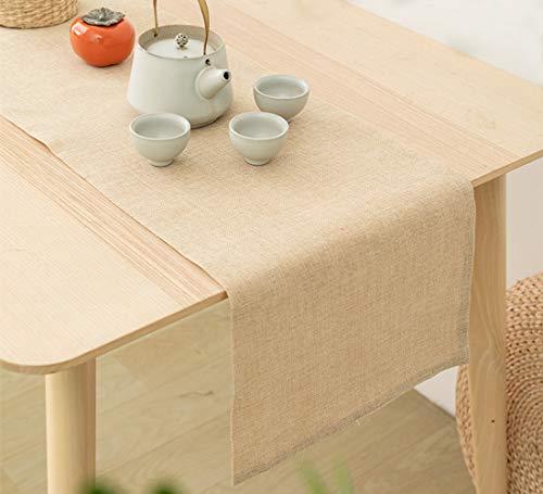 Camino de mesa clásico tapete de mesa para cocina, cena, mesa de café, fiesta, decoración de boda, amarillo, 31,7 x 180,3 cm