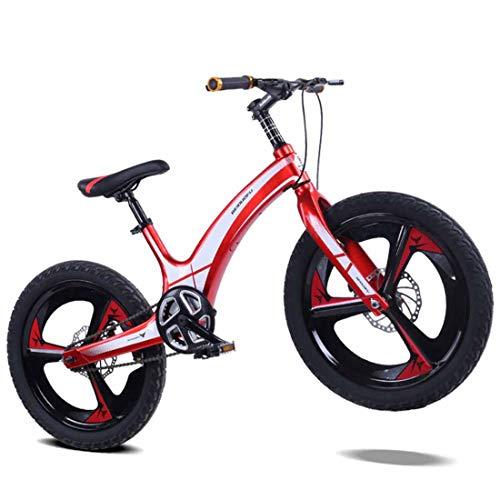 MUYU 20 Inch Magnesium Legering Kinderen Mountainbike Stoel Verstelbare Voor En Achterste Dubbele Disc Remmen