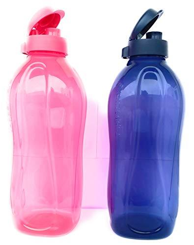 Nexxa Tupperware 2Liter Water Plastic Bottles Fliptop, Set Of 2
