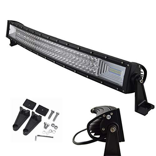 AUXTINGS 32 pulgadas 405W Curvo triple fila 7D LED barra de luz de trabajo Spot...