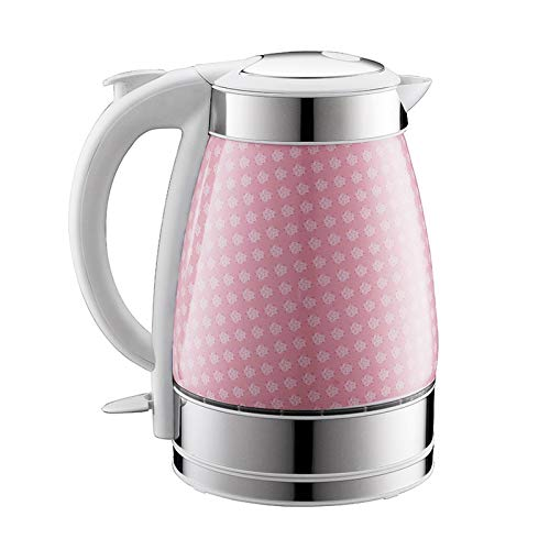 L-YIN Hervidor eléctrico de cerámica, hervidor de hervidor de hervidor de hervidor automático de la Tetera de la Tetera 1.7L de la Capacidad Calentamiento Rápido (Color : Pink, Size : 110-130V)