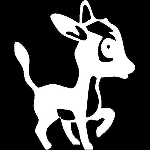 Bel adesivi 10.8 cm X 13.5 cm carino animale domestico asino interessante decalcomania per vinile adesivi auto nero argento accessori auto S6-2909 .Autoadesivo per auto (Color : White)