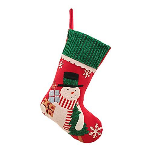ODOORACT Calcetines de Navidad, calcetines de chimenea para Navidad, calcetines de Papá Noel, para rellenar, calcetines de Navidad para textiles navideños (14,96 x 9,84 pulgadas)