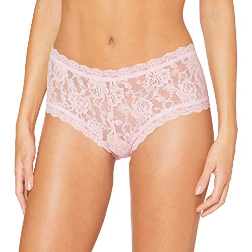 Hanky Panky Boyshort - Shorty, Panties Damen Unterwäsche, Lingerie Slips Damen Baumwolle, Unterhosen aus Stretch-Spitze Signature Lace, Color Bliss - Size M
