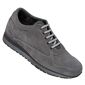 Zapatos de Hombre con Alzas Que Aumentan Altura hasta 7 cm. Fabricados en Piel. Modelo Matera Gris 44