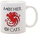 Taza de cerámica Mother of Cats - Humor - Madre de los gatos