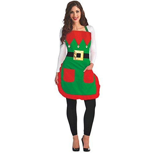 Christmas Elf Fabric Apron | Party Costume