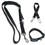 Petscott - Guinzaglio da addestramento per Cani Regolabile con Doppio moschettone. Misure 1,10m, 1,25m e 1,70m. in Regalo Collare e Cintura di Sicurezza.