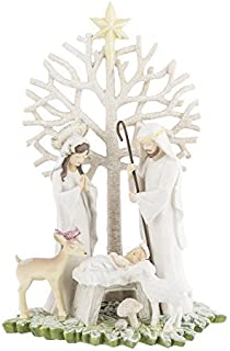 Grasslands Road Nativity Figurine with Tree Winter Wilderness Gifts of Glory by Grasslands Road