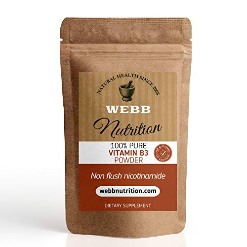 Vitamin B3 Powder - (Nicotinamide) Non Flush - Powerful Antioxidant No Additives (100g)