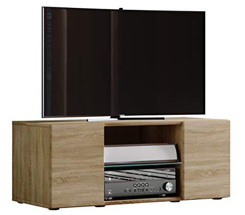 VCM TV Lowboard Fernseh Schrank Möbel Tisch Holz Sideboard Medien Rack Bank Sonoma-eiche 40 x 95 x 36 cm