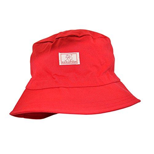 PICKAPOOH Fischerhut mit UV-Schutz Baumwolle, Rot Gr. 52