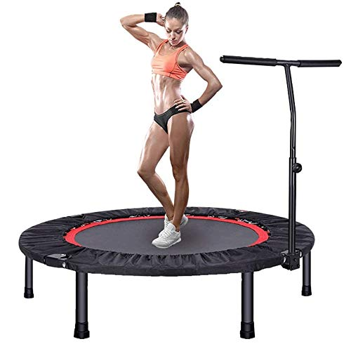 Big Shark Foldable Mini Trampoline, with Adjustable Handle, Exercise Trampoline for Kids Adults Indoor/Garden Workout Max Load 330 lbs