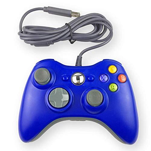 Gamepad für PC im Xbox Design - Controller kabelgebunden - hochwertige Analogsticks - geringe Deadzone – hohe Reaktionsgeschwindigkeit - Dual Vibration Feedback – Gummierung für sicheren Grip,B