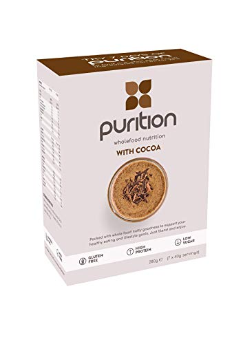 Purition Original Chocolate Trial Box | Premium High Protein Powder for Keto Shakes and Smoothies with Only Natural Ingredients for Weight Loss | 7 x 40g sachets