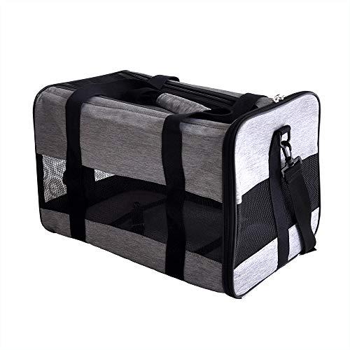 プチリュバン ペットボックスキャリー 3WAY ペットキャリー キャリーバッグ キャリーケース 色:グレー M ドライブボックス 猫 犬 折りたたみ式