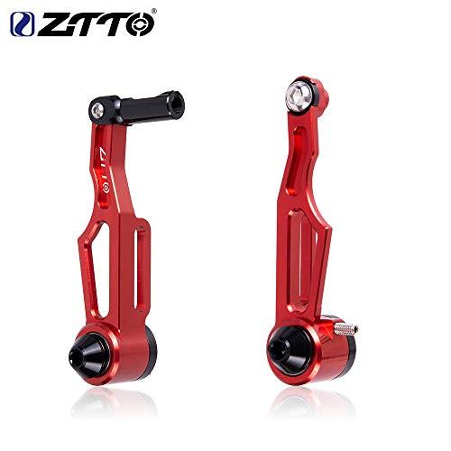 Elegantstunning - Rueda plegable para bicicleta con mango de freno de mano para carretera y freno de V - Accesorios ultraligeros para bicicleta c/n/c