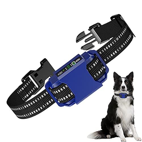 PINHBS Collar Impermeable para Adiestramiento De Perros, Tecnología Anti-Error De Juicio, Collares De Ladridos para Perros Sin Golpes, Collar De Control Anti-ladridos Recargable Más Seguro,