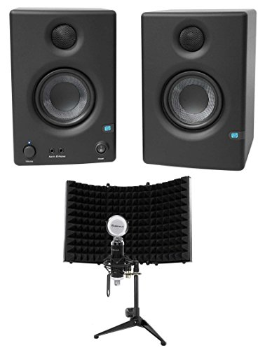 Buy Bargain Pair Presonus Eris E3.5 3.5 Powered Studio Monitor Speakers+Microphone+Shield