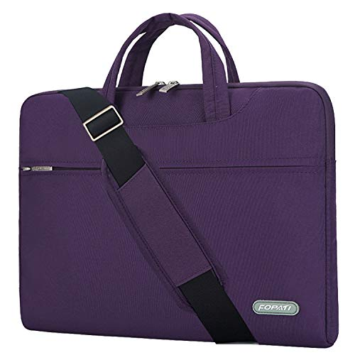 YOUPECK 14 14.1 15 15,4 Zoll Laptop-Tasche, Laptop-Umhängetasche, wasserdichte Notebooktasche, Tragetasche mit Tragegurt für MacBook 15 Chromebook HP Stream Acer Asus Dell, Lila