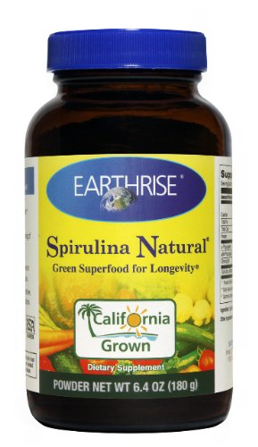 Earthrise Spirulina Natural, 180 Grams Powder