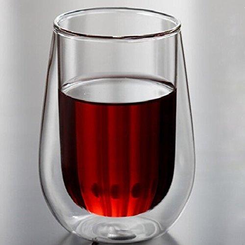 Calli 250ml Klar Double Layer Wand Glas Kaffee Tee Cup Wasser Schale Trinken