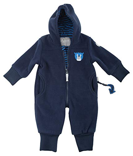 Sigikid Baby-Jungen Fleece Overall, Schneeanzug, Blau (Blau (Mood Indigo 275) 275), 86