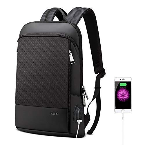 BOPAI Slim Laptop Backpack 15 inch USB Charging Backpack for Men Waterproof Office Laptop Backpack