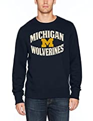 Midweight 60% cotton 40% polyester blend crew-neck style pullover sweatshirt Lightly brushed, super soft interior; Ribbed details enhance durability Distressed screen printed graphics for a vintage look Officially licensed product of the National Col...