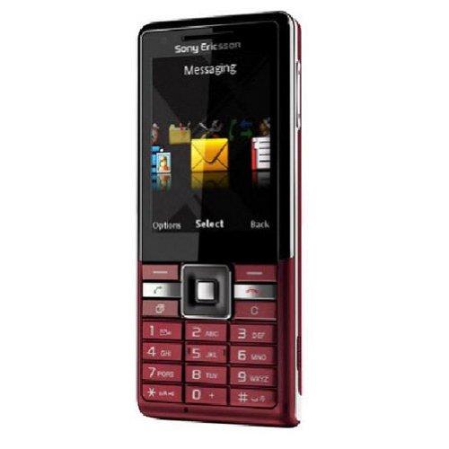Sony Ericsson Naite J105i Smartphone (5,6 cm (2,2 Zoll) Display, Bluetooth, 2 Megapixel Kamera) rot