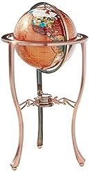 gemstone floor stand world globe