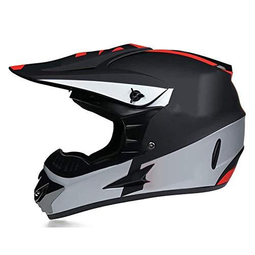 Motocross MX Cascos Motocicleta Casco Casco, Cascos de la Ciudad, Motocicleta, Motocross, Gloves de Helmemit Glasses, D.O.T Bicicleta estándar ATV Kart Casco,S