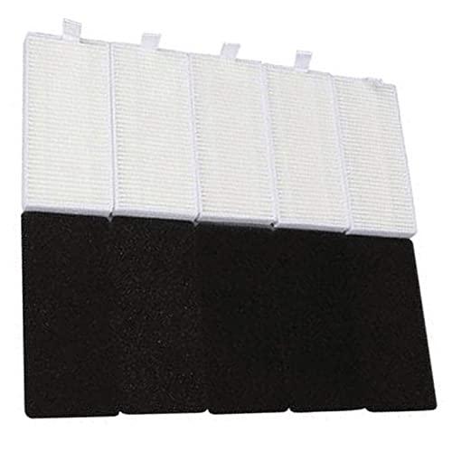 Accesorios de aspiradora Reemplazo de piezas de vacío 5 sets Filter Sponge Fit for IKOHS NETBOT S15 Robot Aspirumeater Accesorio Black + Piezas de limpieza blancas Reemplazo Pinceles Principales Cepil