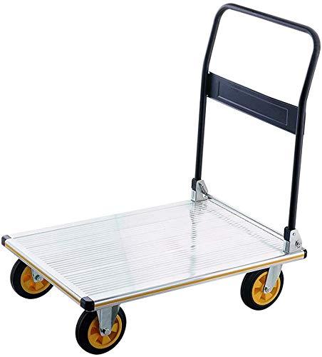 TEHWDE Opvouwbare Truck trolley Platform truck Opvouwbare flatbed Handling trolley winkelwagen sterke en stevige Bouw Utility Cart Compact en Lichtgewicht Kan dragen 350kg