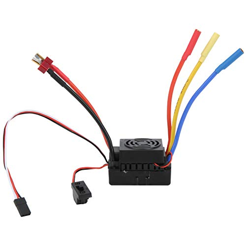 wosume 【 】 Impermeable Negro 60A 50x35x32mm RC Brushless ESC, Controlador de...
