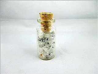 New Rainbow Moonstone Chips Mini Glass Bottle Gemstone Reiki Chakra Balancing Jet International Healing Crystal Therapy Holistic Spiritual