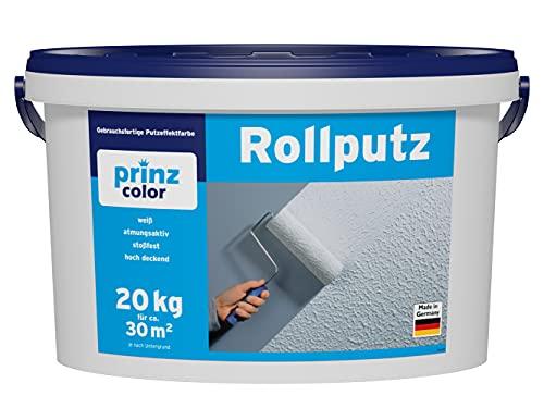 prinzcolor Premium Rollputz Streichputz Dekorputz Strukturfarbe Weiß 20kg