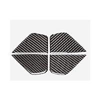 カーインテリアの装飾 ステッカー カップホルダーフレームトリムステッカーカーボンファイバーインテリアドアハンドルボウルカバーにメルセデスベンツCクラスW205 GLCカースタイリング (Color : 5)