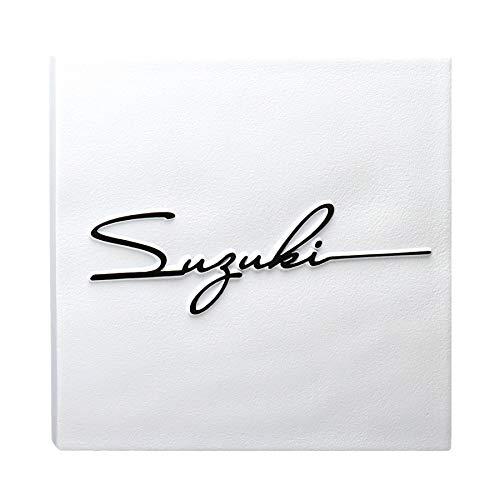 表札 凸 白 凸文字 浮き彫り タイル表札 風水 縁起 145角 サイン サインフォント