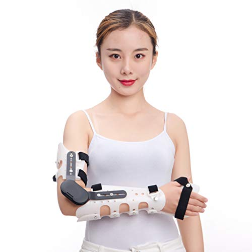 HSRG Scharnier-ROM Elbow Palm Brace, für Arm-Orthese Injury Recovery-Unterstützung nach der Operation Adjustable Beitrag OP Ellenbogenbandage