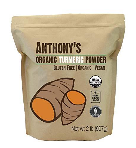 Anthony's Organic Turmeric Root Powder, 2lbs, Curcumin Powder, Gluten Free & Non GMO