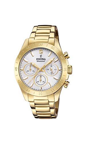 Festina Damen Chronograph Quarz Uhr mit Edelstahl Armband F20400/1