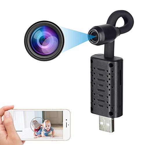 Cámara espía Oculta WiFi HD 1080P, Mini Cámara de vigilancia Interior Exterior, sin Cables, Sensor de Movimiento