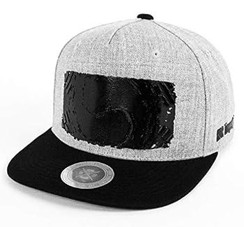 Flipper Korean Flag Taegeukgi Printing Kpop Flat Brim Bill Baseball Cap Classic Snapback Hat for Men Women with 3 Adjustable Sizes  Gray/Black X-Large  23 1/2 ~24 1/4  60~62cm