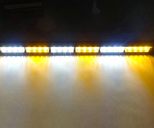 Barre lumineuse Hehemm - 24 lumières LED - 68,6 cm de long - Pour feux de détresse, camion de pompier, signaux de danger en journée, signaux d'urgence